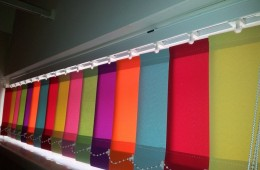 Multicoloured vertical blinds